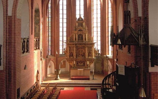 Blick in den Chorraum der Maria-Magdalenen-Kirche Eberswalde, Foto: Hans-Peter Giering