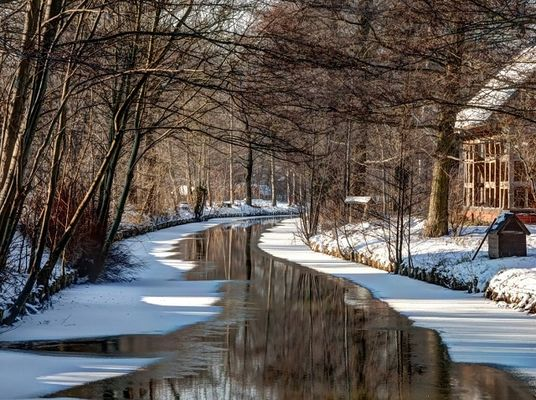 Winterkahnfahrt Foto: Peter Becker