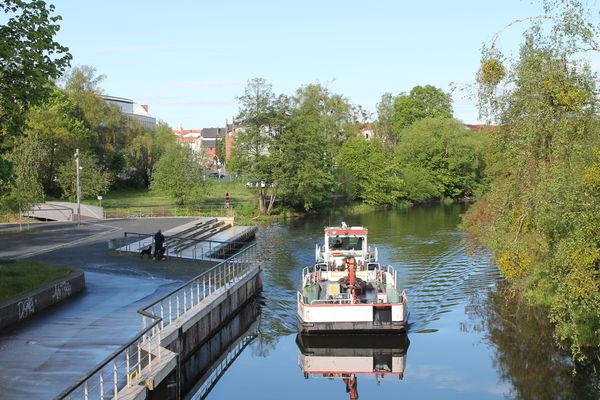 Stadtpromenade am Finowkanal, Foto: Kulturamt, Lizenz: Frau Stöwe