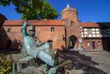 Der Cottbuser Postkutscher an der Stadtmauer/ Lindenpforte, Foto: Andreas Franke, Lizenz: CMT Cottbus