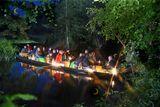 Lichterkahnfahrt, Foto: Richard Kliche, Lizenz: Bootshaus am Leineweber