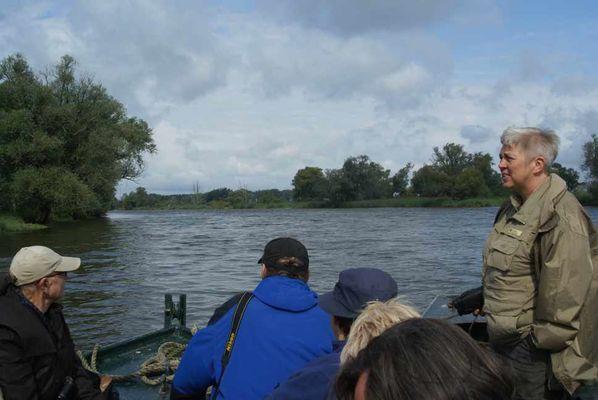Auf dem Fischerkahn, Foto: Naturwacht