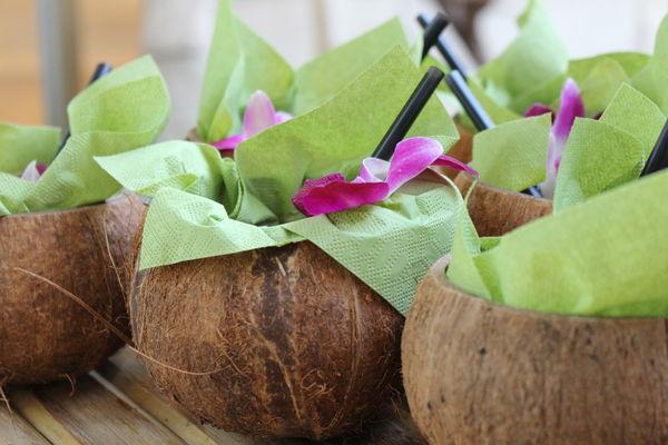 Cocktail aus der Kokosnuss, Foto: N. Ulsamer, Lizenz: Biosphäre Potsdam