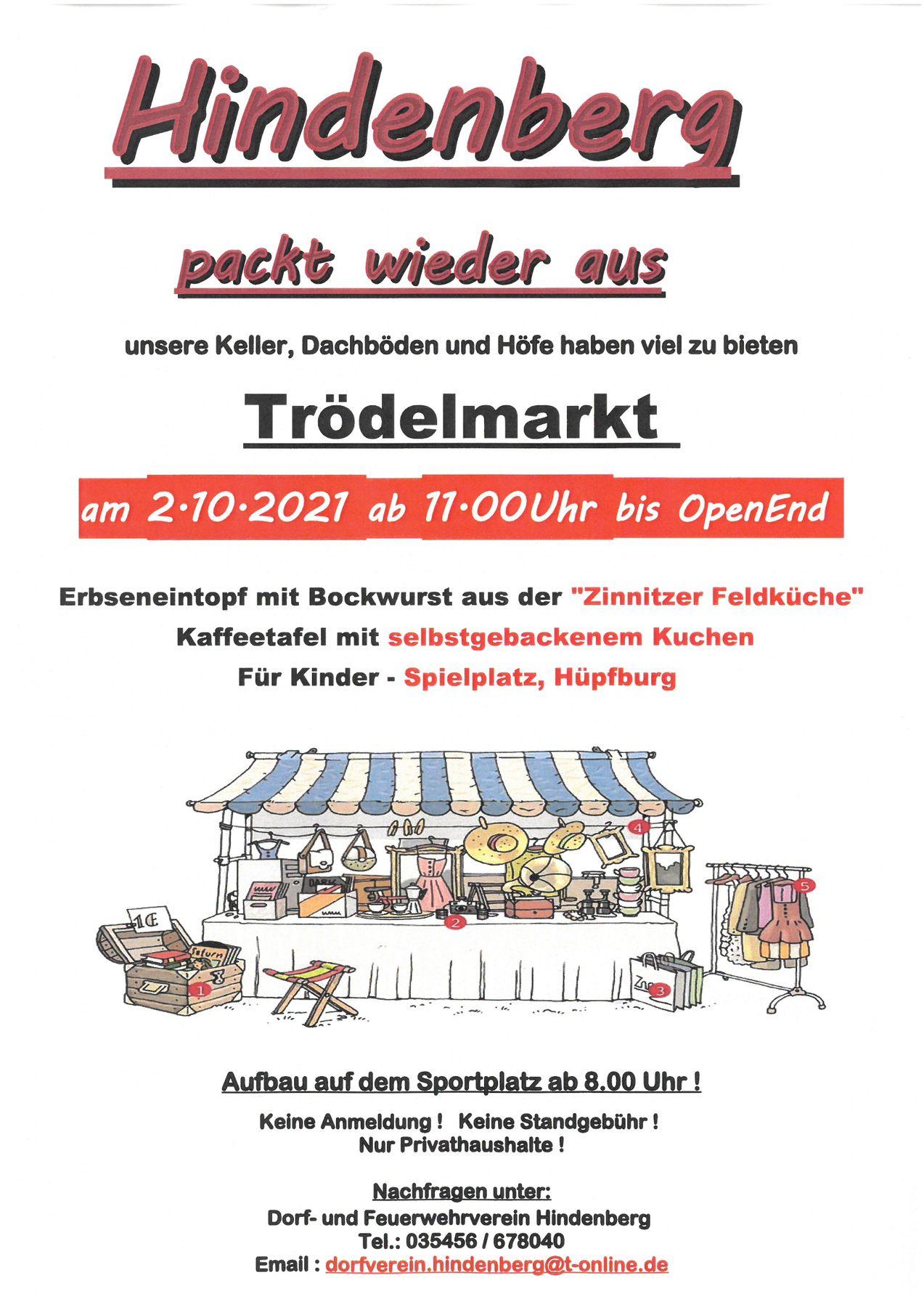 Flyer, Foto: Dorf- und Feuerwehrverein Hindenberg e.V., Lizenz: Dorf- und Feuerwehrverein Hindenberg e.V.